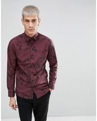 SELECTED - Slim Fit Shirt With All Over Print - Lyst