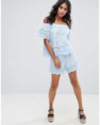 Madam Rage - Cotton Embroidered Shorts - Lyst