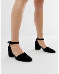 555d150fc5ea Vagabond Olivia Black Leather Mid Heeled Shoes in Black - Lyst