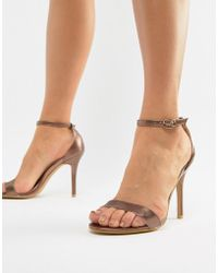 Glamorous - Barely There Heel - Lyst