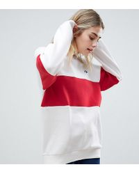 Converse - Cons Skate Sweatshirt In White And Red - Lyst