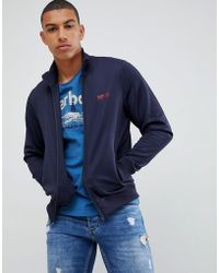 Barbour - Essential Track Jacket In Navy - Lyst