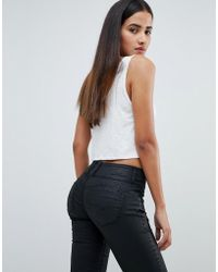 Salsa - Mystery Bum Sculpting High Waist Skinny Jean With Black Coating - Lyst