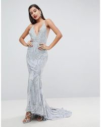 ASOS - Heavily Embellished Cami Strap Maxi Dress - Lyst