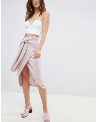 ASOS Occasion Tie Front Pencil Skirt