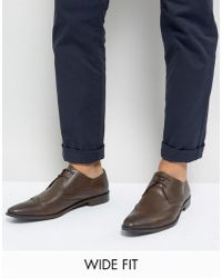 Frank Wright - Wing Tip Brogue Shoes In Brown Leather - Lyst
