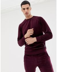 Only & Sons - Velour Crew Neck Sweat - Lyst