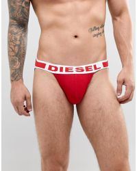 DIESEL - Men's Jocky Fresh Bright Jockstrap, Red Men's In Red - Lyst