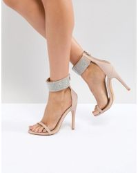 Truffle Collection - Embellished Heeled Sandals - Lyst