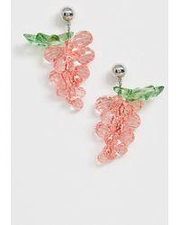 ASOS - Earrings With Plastic Gem Fruit Drop - Lyst