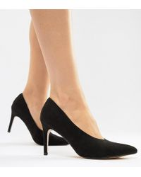 9c09eaf1bfd3 Lyst - Truffle Collection Tie Ankle 2part Point High Heels in Black
