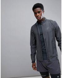 Asics - Running Jacket In Grey 134091-0779 - Lyst