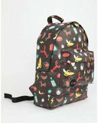 Mi-Pac - X Tatty Devine Iconic Print Backpack - Lyst