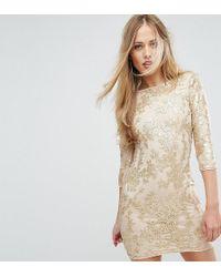 TFNC London - Mini 3/4 Length Sleeve Sequin Dress - Lyst