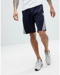 adidas Originals - Nova Shorts With Pinstripe In Navy Ce4849 - Lyst