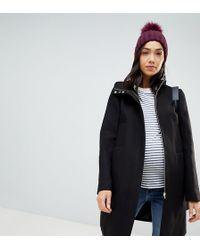 ASOS - Asos Design Maternity Zip Through Coat With Hood - Lyst
