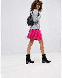 Minimum - Faux Suede Skirt - Lyst