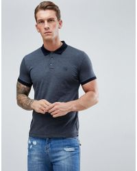 French Connection - Polo Shirt With Contrast Collar - Lyst