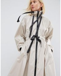 ASOS - Ruched Detail Zip Through Dress Jacket - Lyst