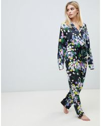 ASOS - Mix & Match Floral Pyjama Pant In 100% Woven Modal - Lyst