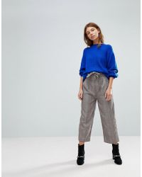 Pull&Bear - Heritage Check Tie Waist Trouser - Lyst