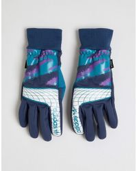 5a5ef0f07 The North Face International E-tip Gloves In Blue Star Print in Blue ...