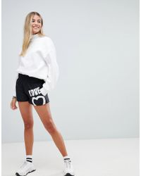 Love Moschino - Graphic Logo Shorts - Lyst