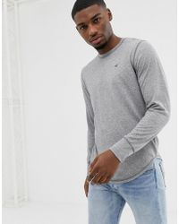 Hollister - Icon Logo Long Sleeve Top In Charcoal - Lyst