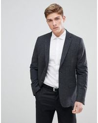 New Look - Blazer In Dark Grey - Lyst