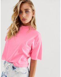2ab5cafbb6a52 Lyst - ASOS Grown On Sleeve Cropped Shirt in Natural