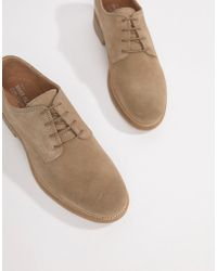 River Island - Suede Brogues With Sole Detail In Sand - Lyst
