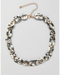 ASOS - Necklace In Resin With Chain In Gold - Lyst
