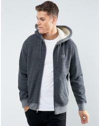 Abercrombie & Fitch - Zipfront Hoodie Fleece Lined In Heather Grey - Lyst