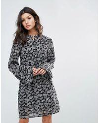 Mango - Boho Printed Swing Dress - Lyst