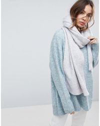 Weekday - Wool Mix Oversize Chunky Scarf - Lyst