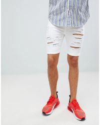 Criminal Damage - Denim Shorts In White - Lyst