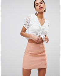 Fashion Union - Tea Blouse In Lace - Lyst