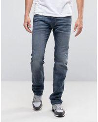 DIESEL - Safado Straight Fit Jeans In 0885jk Grey - Lyst