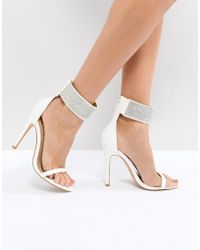 Truffle Collection - Bridal Heeled Sandals - Lyst