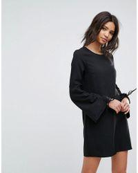 Vero Moda - Gathered Sleeve Shift Dress - Lyst