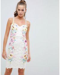 49db0c56c65b5a Lipsy Jewel Pleated Skater Dress in Blue - Lyst