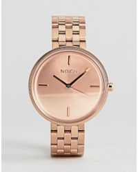Nixon - Vix Bracelet Watch In Rose Gold - Lyst