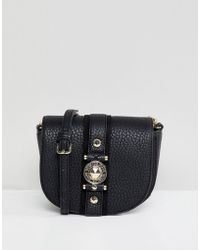 Versace Jeans - Crossbody Saddle Bag With Clasp - Lyst