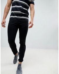 HUGO - 734 Skinny Fit 5 Pocket Jean With Stretch In Black - Lyst