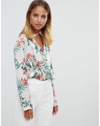 Girl In Mind - Floral Wrap Body - Lyst