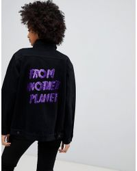 Chorus - From Another Planet Denim Sequined Denim Jacket - Lyst