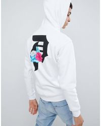 Primitive - Skateboarding Flores Hoodie With Large Back Print In White - Lyst