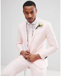 Jack & Jones - Premium Skinny Suit Jacket In Dusty Pink - Lyst