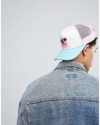 11 Degrees - Trucker Cap With Miami Print - Lyst