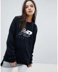 New Balance - Logo Sweatshirt In Black - Lyst